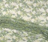 Bordado flor con pedreria verde pastel