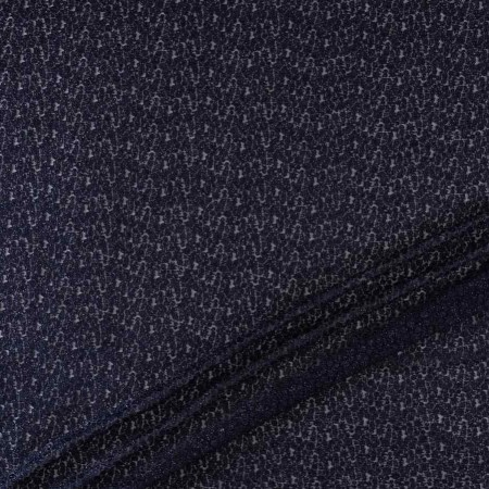 Navy lame embroidery