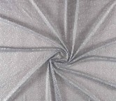 Silver grey lame embroidery
