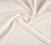 Bordado de algodÓn flor blanco
