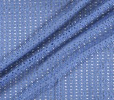Blue cotton embroidery