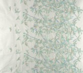 Mint birds embroidery