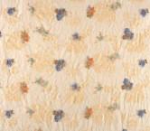 Bordado flor con sequins azul