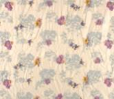 Blue orange lilak bordado flor
