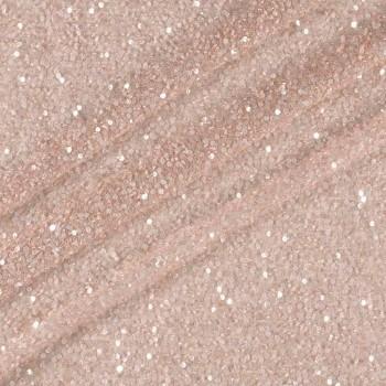 Quartz pink beaded mesh
