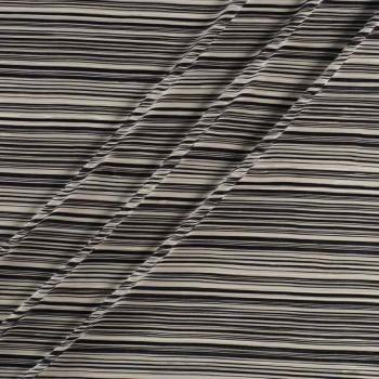 Rayas bicolor plisadas blanco negro