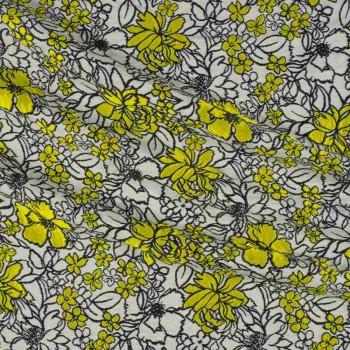 Yellow jacquard flor