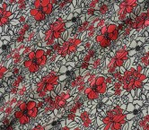 Jacquard flor turquesa