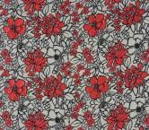 Jacquard flor fuxia