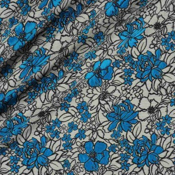 Turquoise jacquard flor