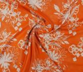 Jacquard flor lame naranja