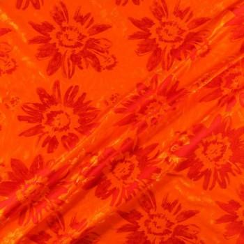 Jacquard flor naranja