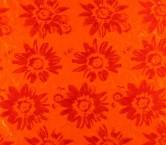 Orange jacquard flor