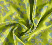 Jacquard flor verde turquesa