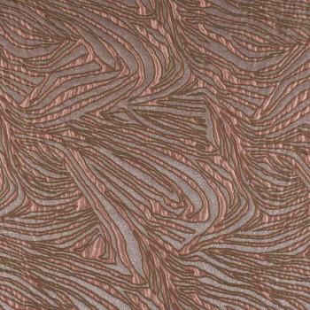 Jacquard ondas lame rosa