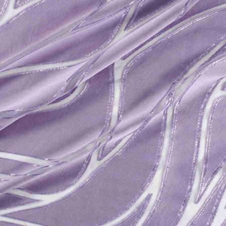 Lilac lame organza jacquard