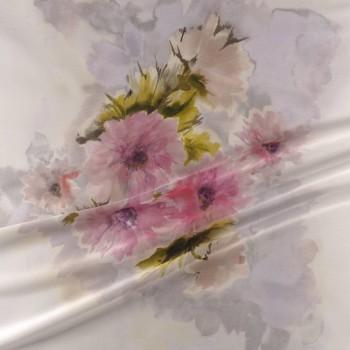 Estampado sobre fondo jacquard pano 139cm rosa