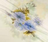 Estampado sobre fondo jacquard pano 139cm azul