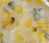 Gasa laminada flor amarillo