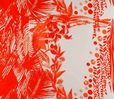 Red printed crepe rappord 95cm