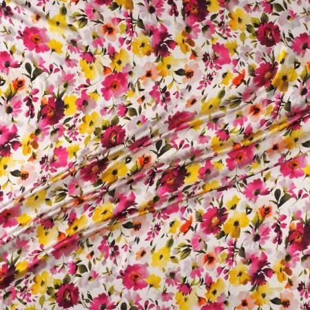 Fuchsia floral print