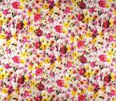 Raso estampado flor fucsia