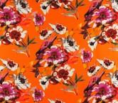 CrÊpe estampado flor naranja