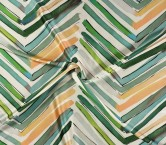Estampado diagonal verde turquesa