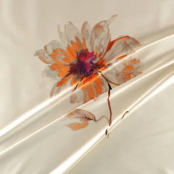 Estampado flor 584 pano 139cm fuxia naranja nude
