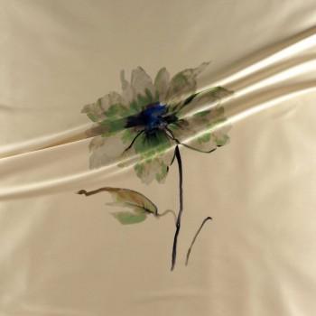 Estampado flor 584 pano 139cm verde azul