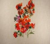 Estampado flor pano 120cm rojo