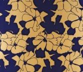 Mikado estampado flor azul amarillo