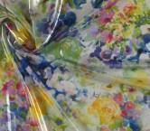 Gasa laminada acuarela multicolor