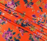 Mikado estampado floral coral