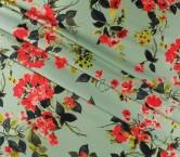 Mikado estampado floral turquesa