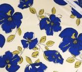 Estampado flor verde azul