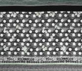 Estampado lunares grafito pano 94cm