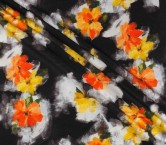 Estampado textura naranja negro
