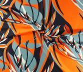 Mikado estampado naranja marino