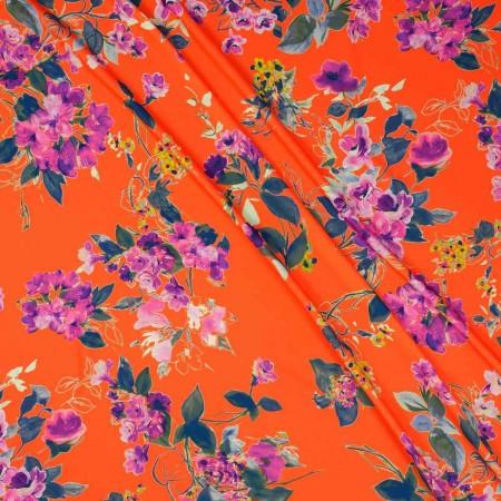 Multicolor coral fuxia estampa