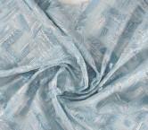 Light blue jacquard flecos lam
