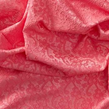 Jacquard flor rosa