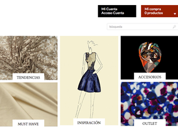New online Shop Gratacós Fabrics. Buying fabrics online is easy.